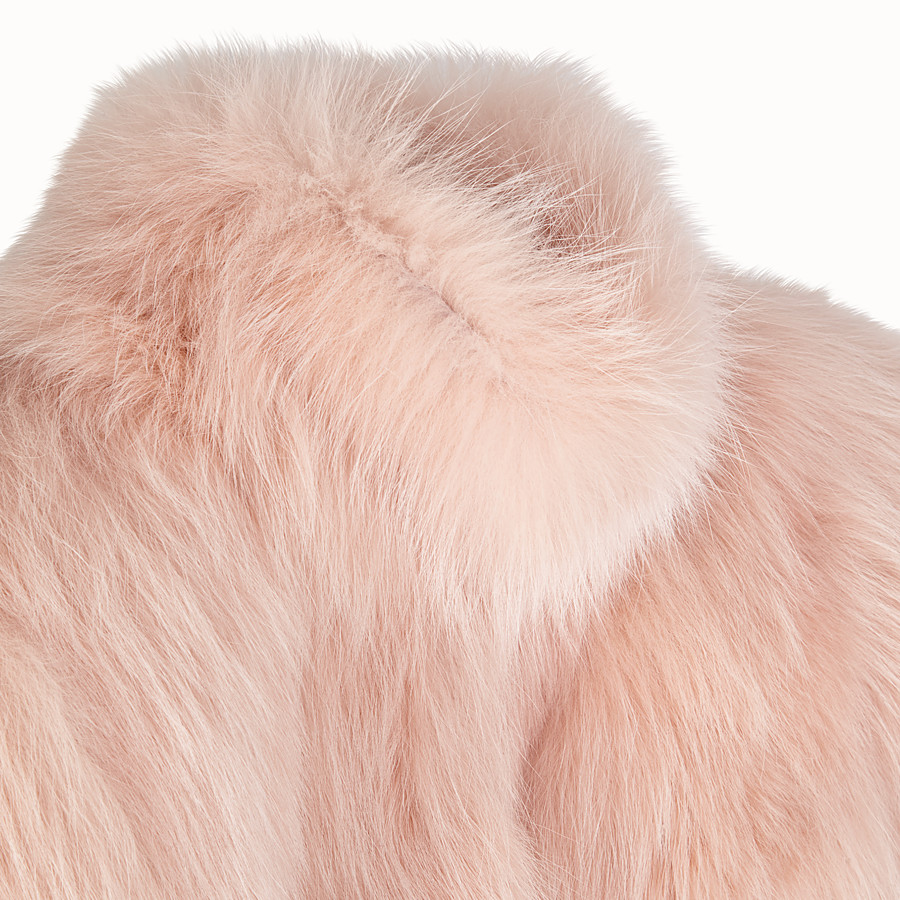 FENDI CAPE - Pink fur cape - view 3 detail