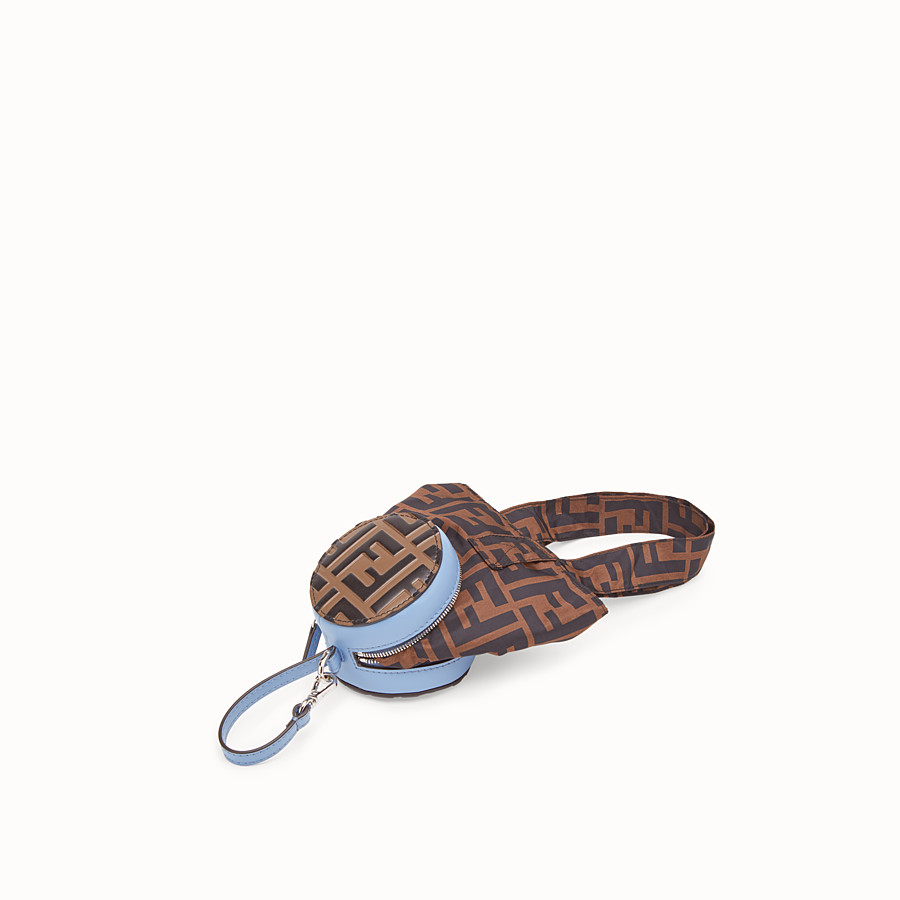 FENDI TOTE BAG CHARM - Pale blue leather charm - view 2 detail