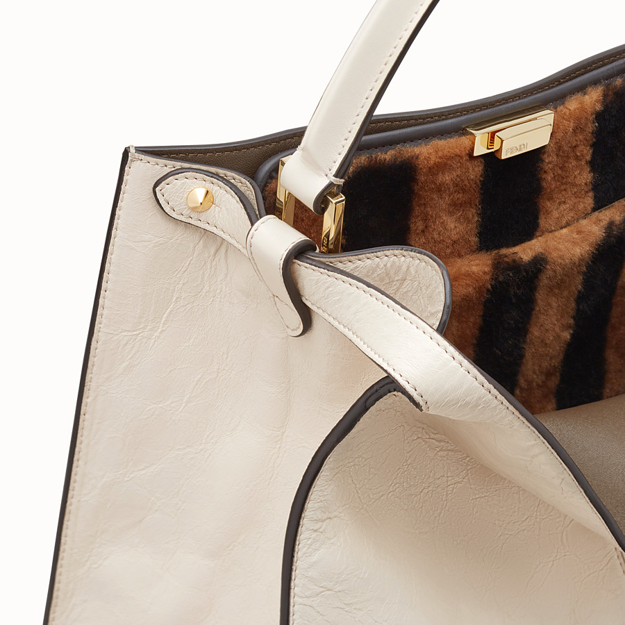 FENDI PEEKABOO X-LITE - White leather bag - view 7 detail
