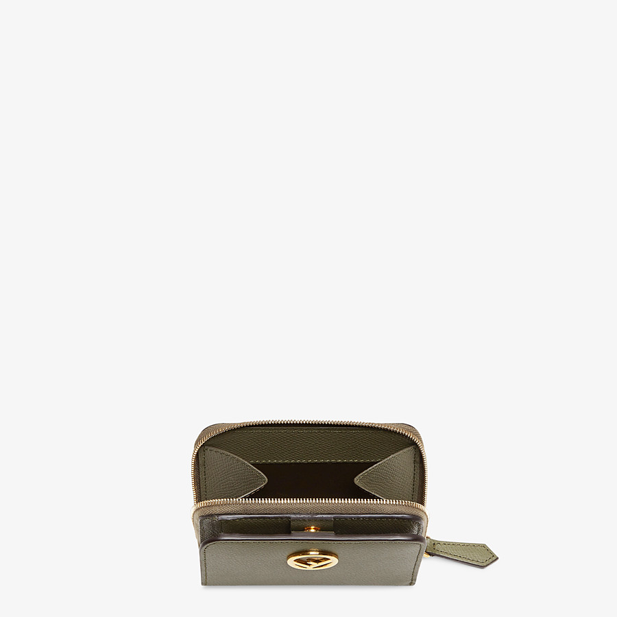 FENDI MEDIUM ZIP-AROUND - Green leather wallet - view 3 detail