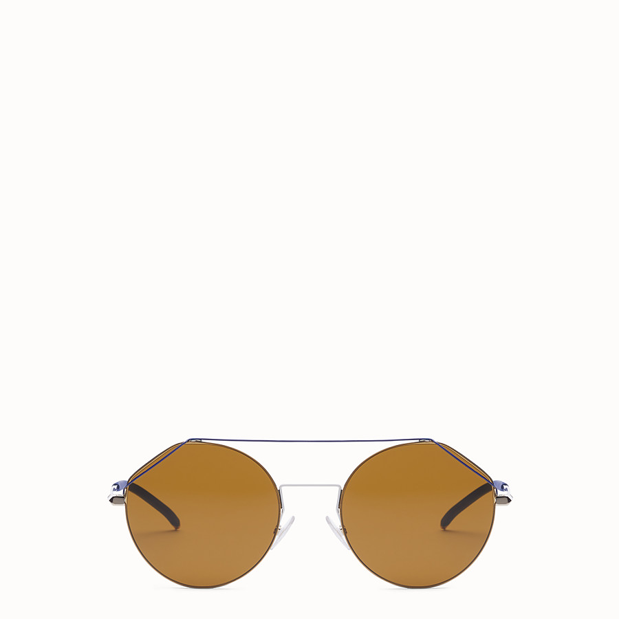 FENDI FENDIFIEND - Gold and blue sunglasses - view 1 detail