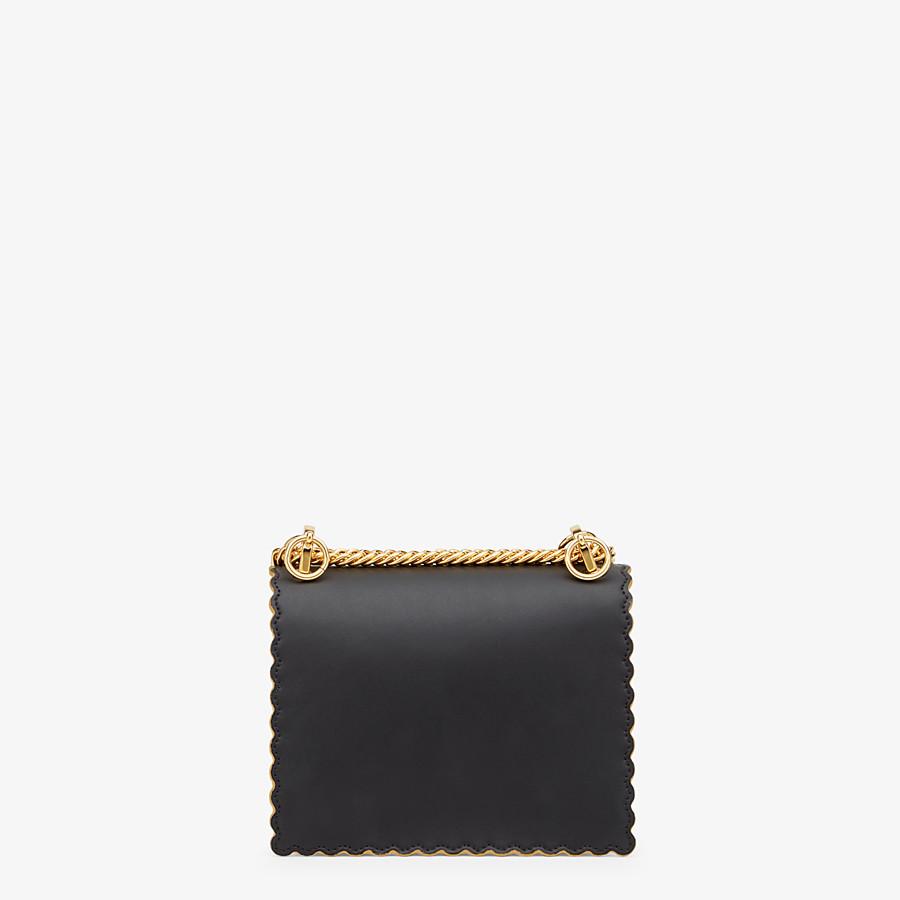 FENDI KAN I PICCOLA -  Minibag in pelle nera - vista 4 dettaglio