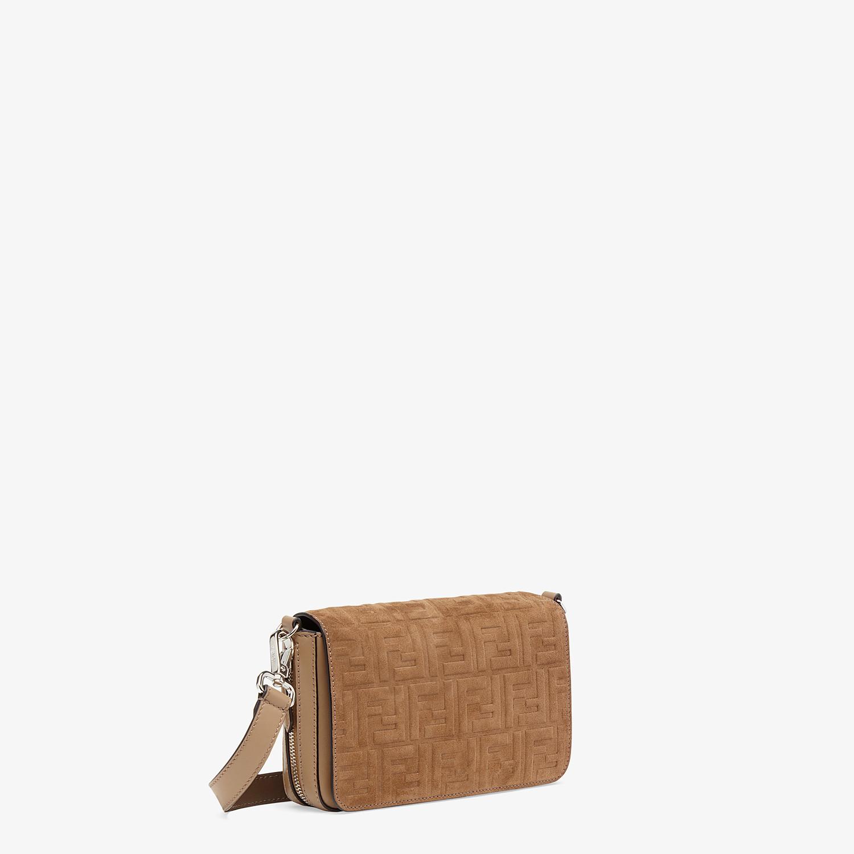 FENDI FLAP BAG - Beige leather bag - view 2 detail