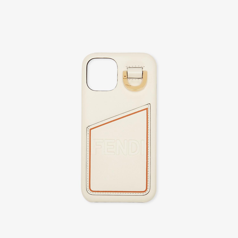 FENDI SMARTPHONE CASE - White nappa leather case - view 1 detail