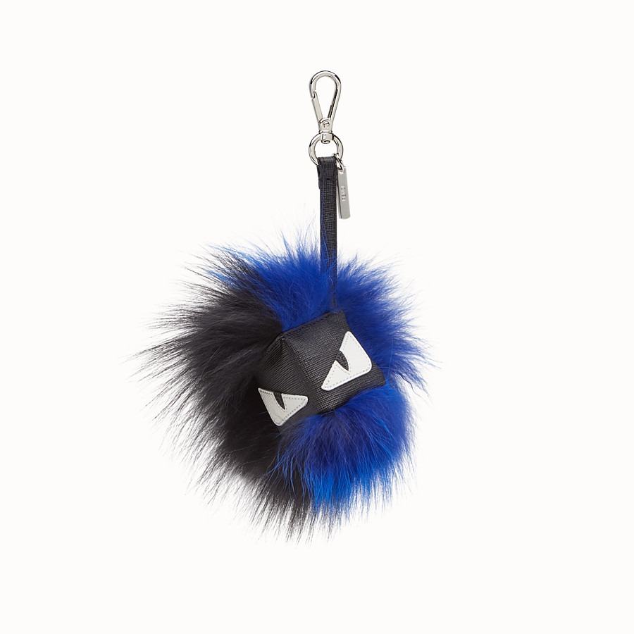 FENDI CUBE MONSTER CHARM - Multicolour leather and fox fur charm - view 1 detail