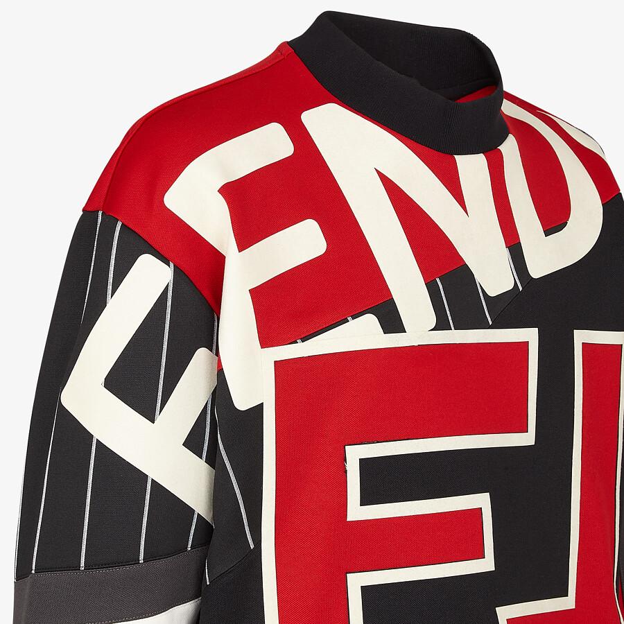 FENDI SWEATSHIRT - Multicolour cotton sweatshirt - view 3 detail
