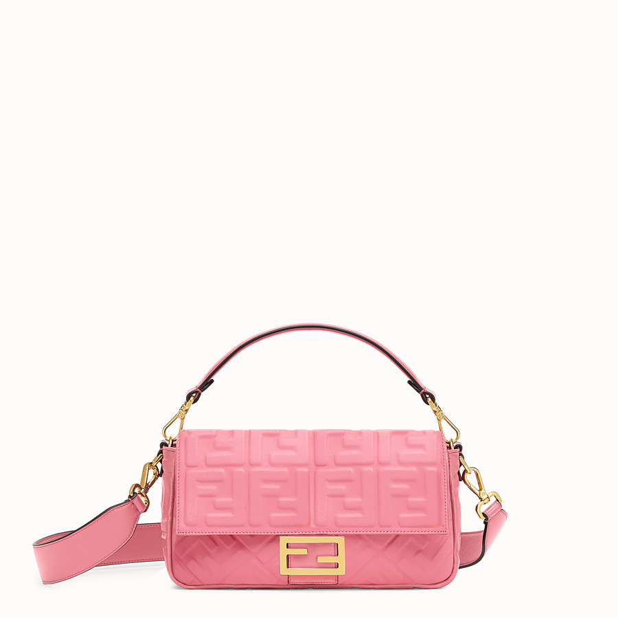 FENDI BAGUETTE - Sac en cuir rose - view 1 detail
