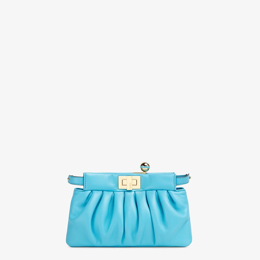 FENDI PEEKABOO CLICK - Light blue nappa leather pochette - view 1 detail