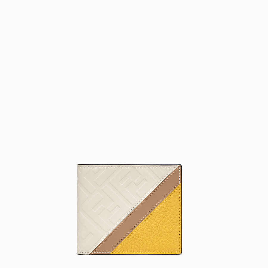 FENDI WALLET - White leather bi-fold wallet - view 1 detail