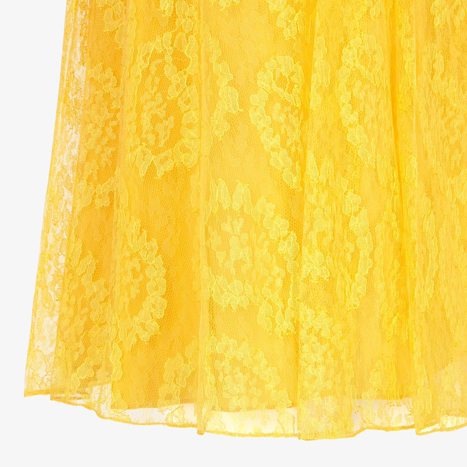 FENDI SKIRT - Yellow lace skirt - view 3 detail