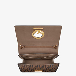 FENDI KAN I F - Brown leather bag - view 5 thumbnail