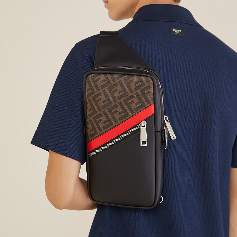 FENDI BELT BAG - One-shoulder backpack in brown fabric - view 6 detail