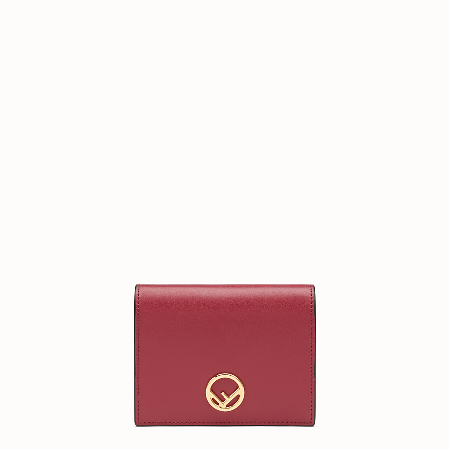 FENDI BIFOLD - Red compact leather wallet - view 1 detail
