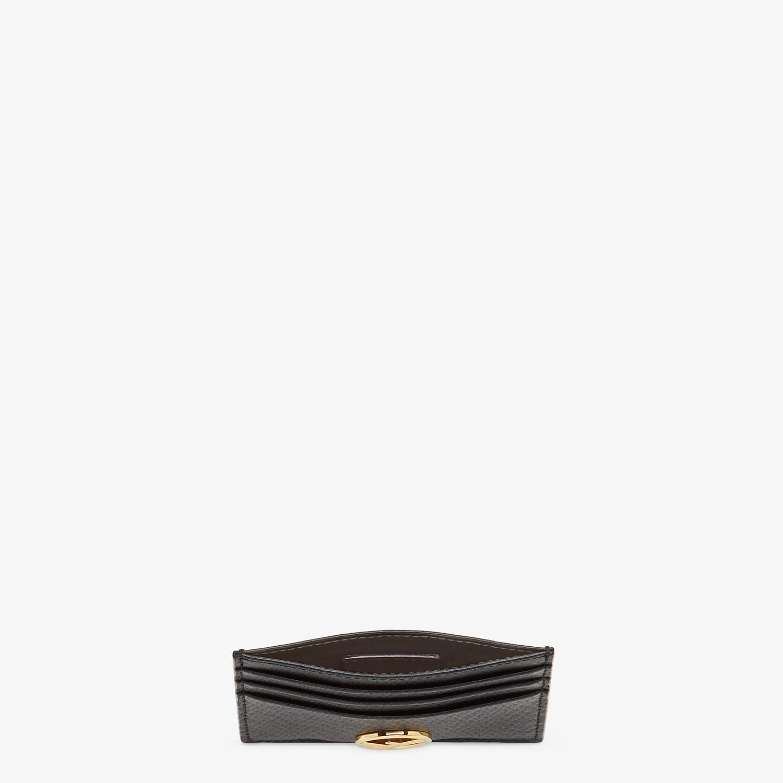 FENDI PORTACARTE - Porta carte piatto in pelle nera - vista 4 dettaglio