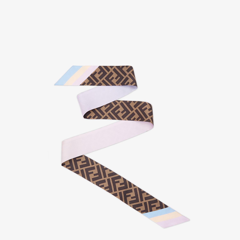 FENDI WRAPPY - Pink silk bandeau - view 1 detail