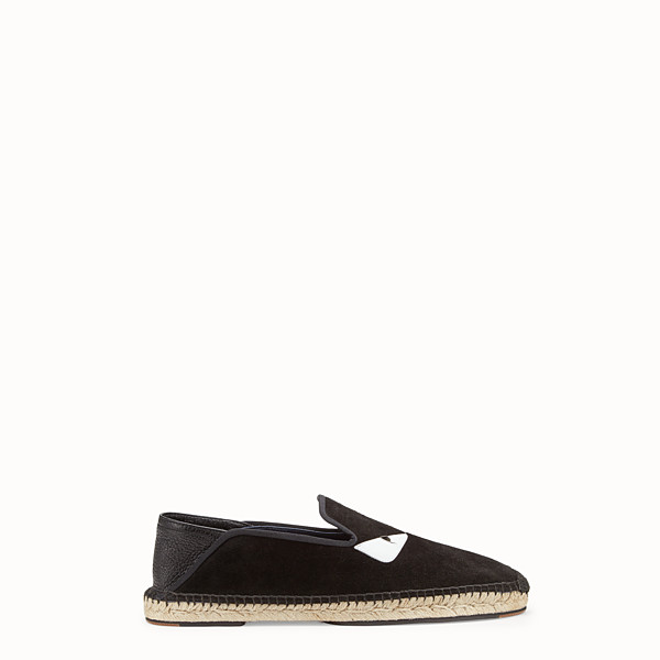 FENDI ESPADRILLES - Black crust leather espadrilles - view 1 small thumbnail