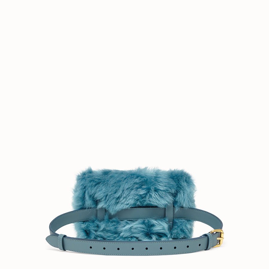 FENDI BELT BAG - Green sheepskin mini-bag - view 3 detail