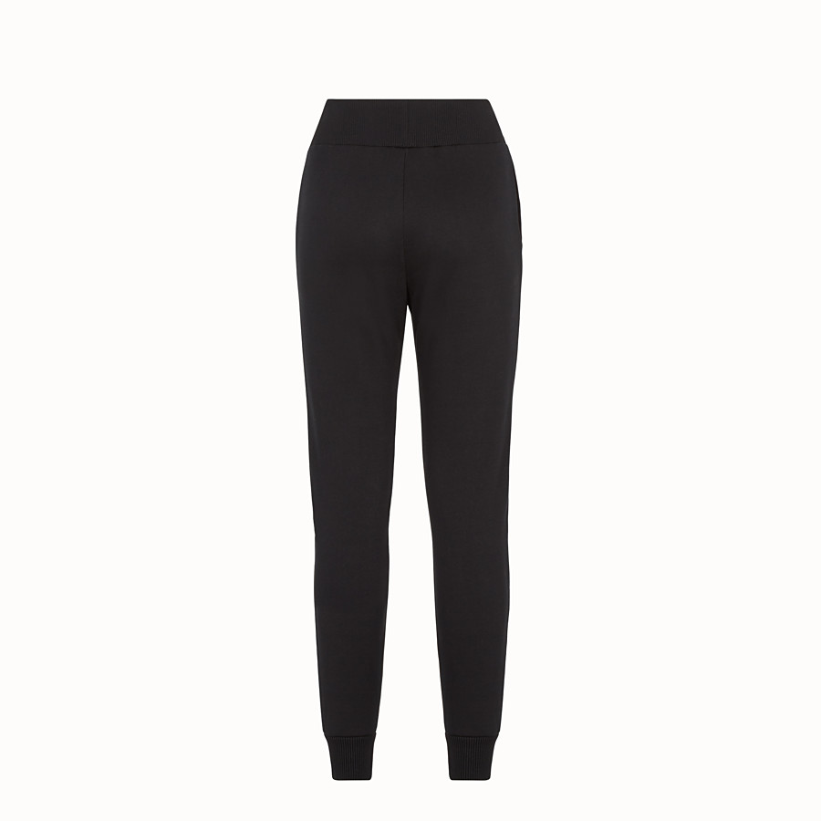 FENDI TROUSERS - Black fabric tracksuit trousers - view 2 detail