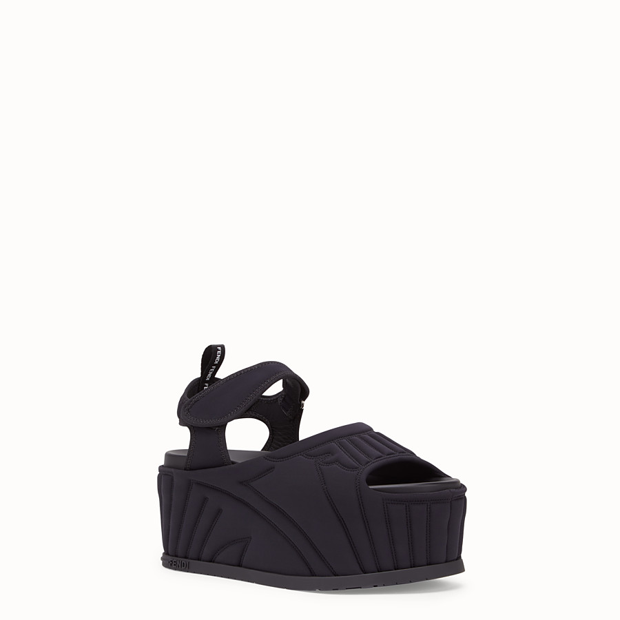 FENDI FLATFORM - Fendi Roma Amor fabric sandals - view 2 detail