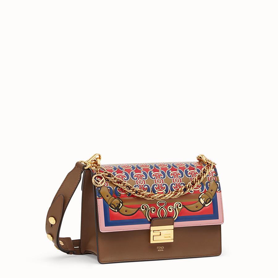 FENDI KAN U - Multicolour leather bag - view 3 detail