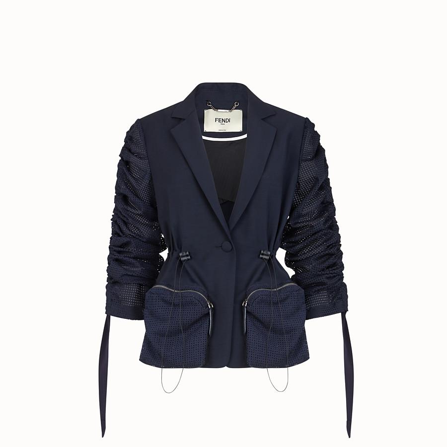 FENDI VESTE - Blazer en mohair bleu - view 1 detail