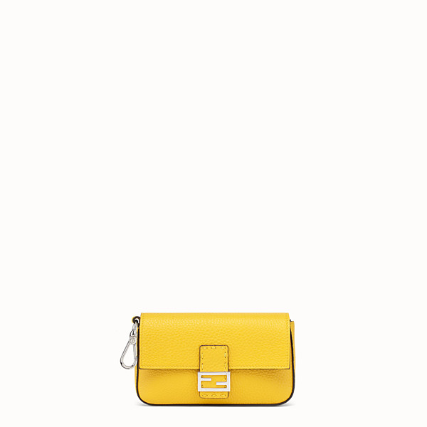 FENDI MICRO BAGUETTE - Yellow leather micro-bag - view 1 small thumbnail