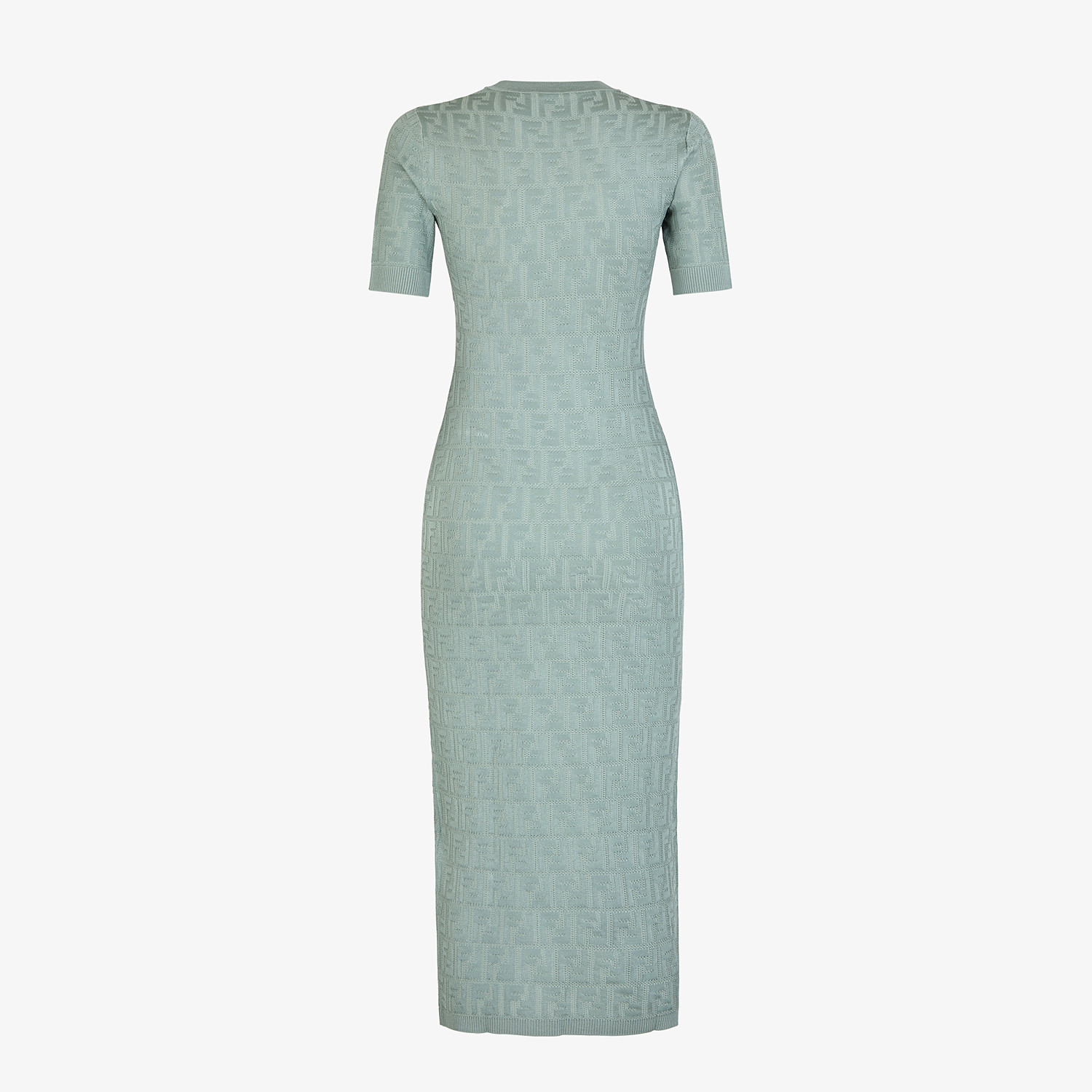 FENDI DRESS - Light blue viscose and cotton dress - view 2 detail