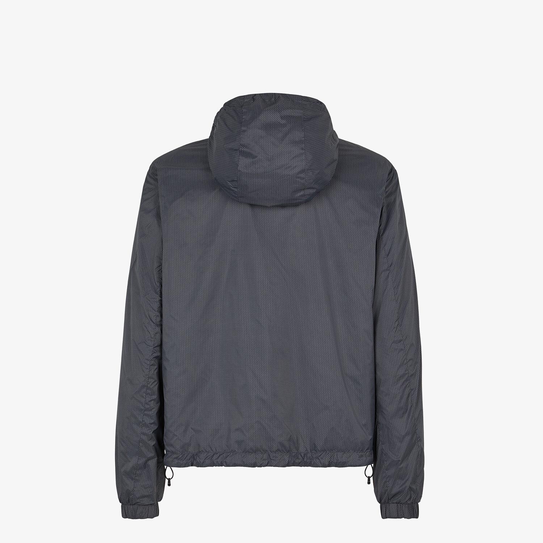 FENDI WINDBREAKER - Gray nylon jacket - view 2 detail