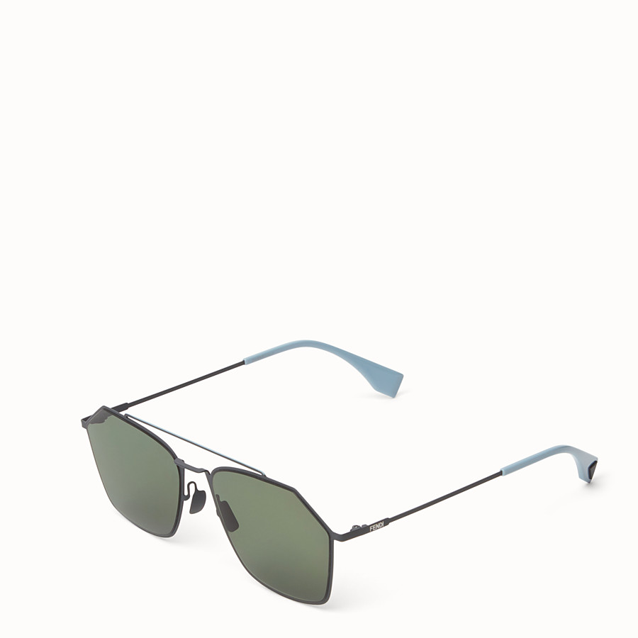 FENDI EYELINE - Grey Asian fit sunglasses - view 2 detail