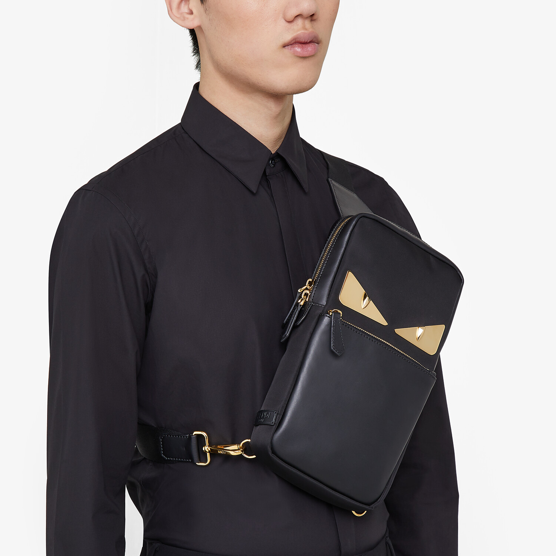 FENDI BELT BAG - Black nylon one-shoulder backpack - view 5 detail