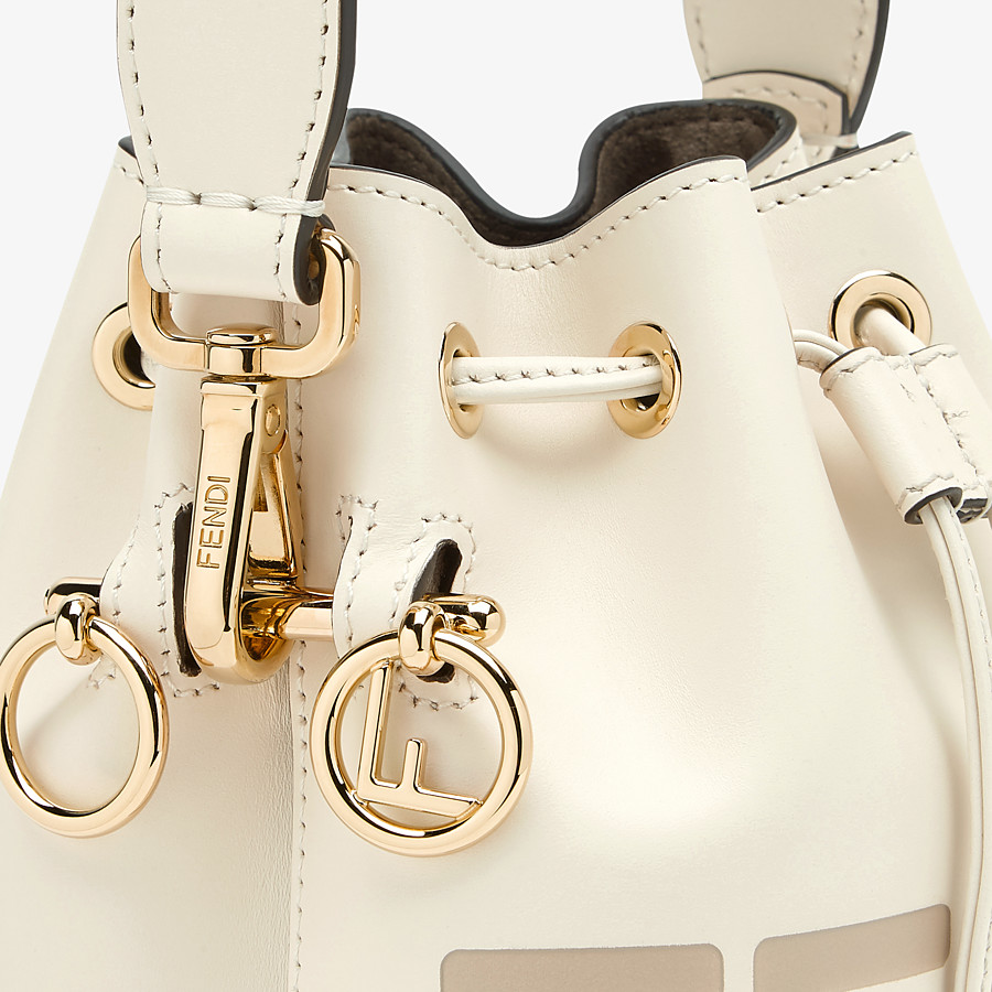 FENDI MON TRESOR - White leather mini-bag - view 6 detail