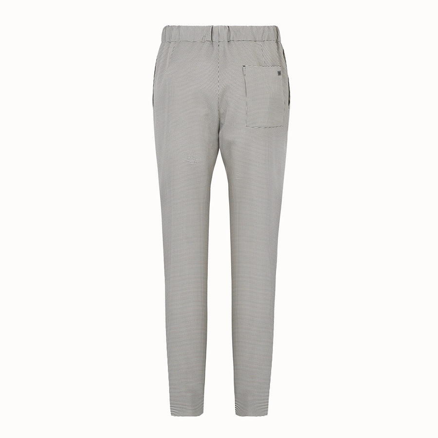 FENDI TROUSERS - Grey fabric trousers - view 2 detail