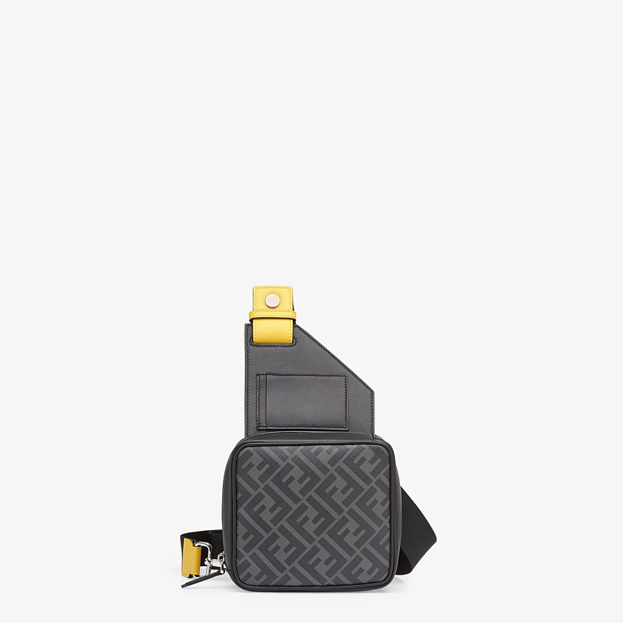 FENDI BACKPACK - Black leather backpack - view 4 detail
