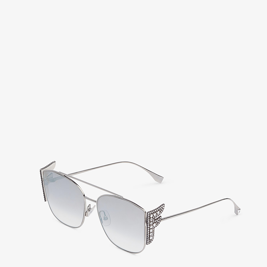 FENDI FFREEDOM - Silver-coloured sunglasses - view 2 detail
