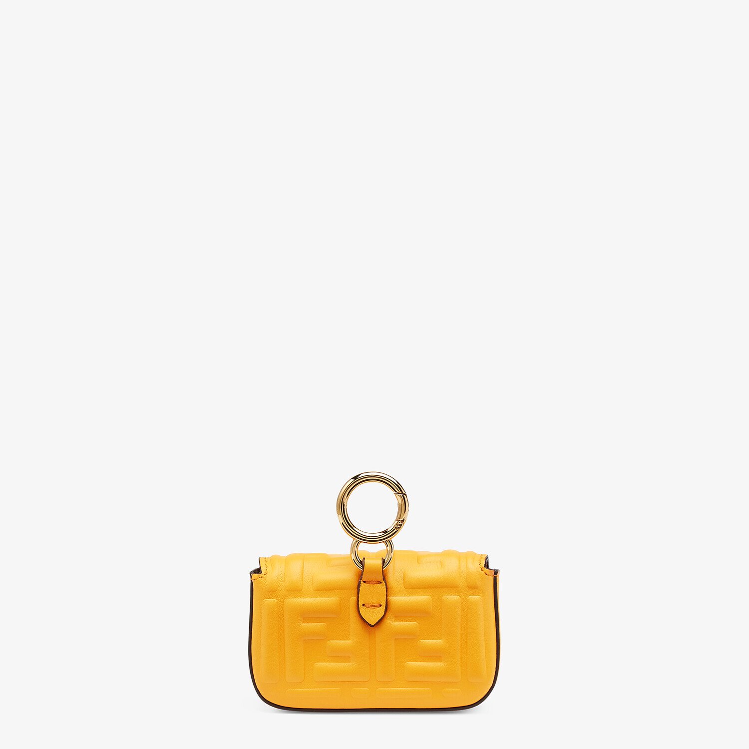 FENDI NANO BAGUETTE CHARM - Orange nappa leather charm - view 3 detail