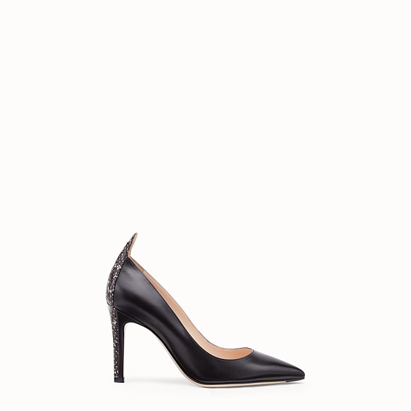 FENDI COURT SHOES - Black leather court shoes - view 1 small thumbnail