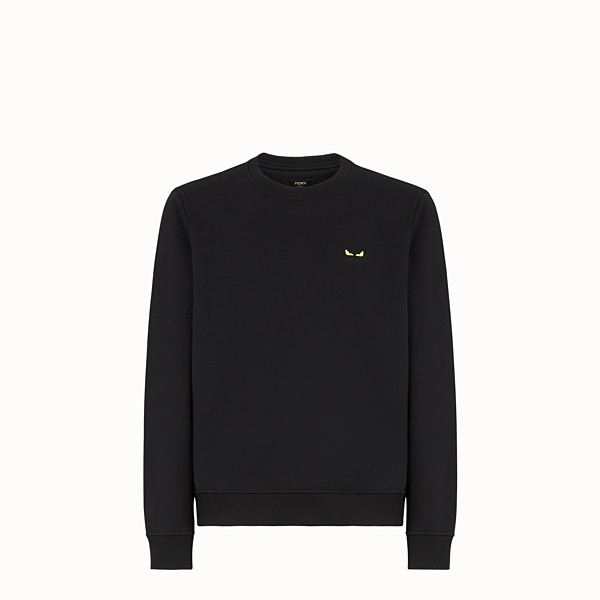 FENDI SWEAT-SHIRT - Sweat-shirt en jersey de coton noir - view 1 small thumbnail