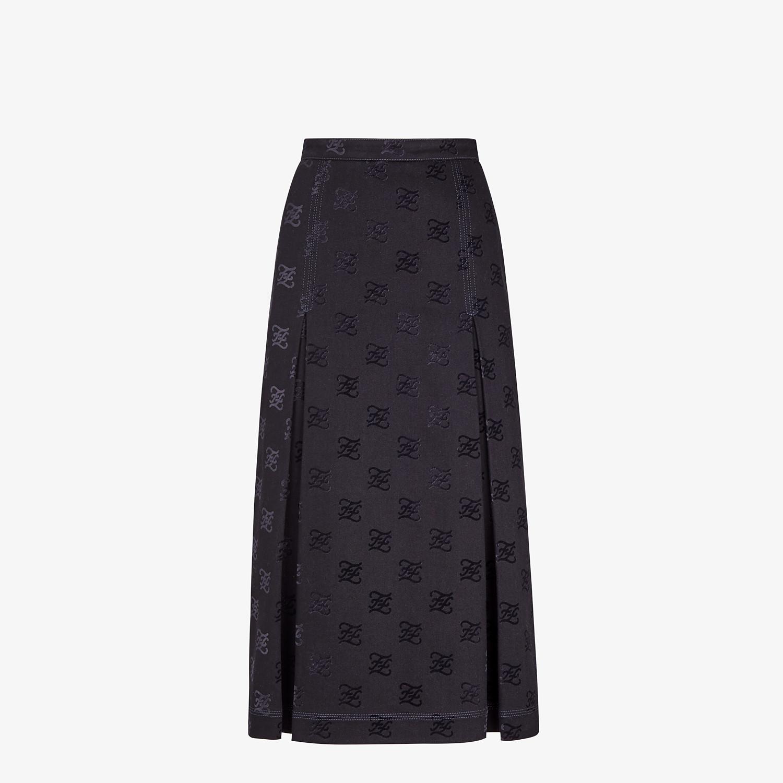 FENDI SKIRT - Black denim skirt - view 1 detail