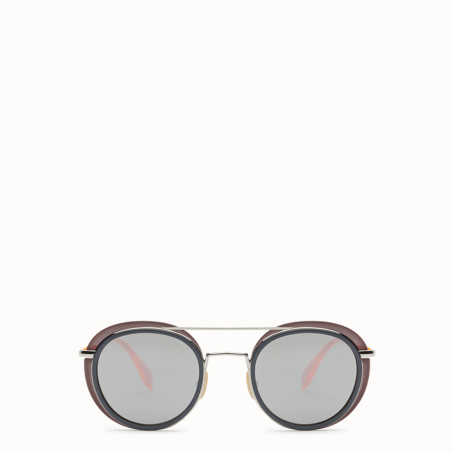 FENDI FENDI GLASS - Grey and palladium sunglasses - view 1 detail