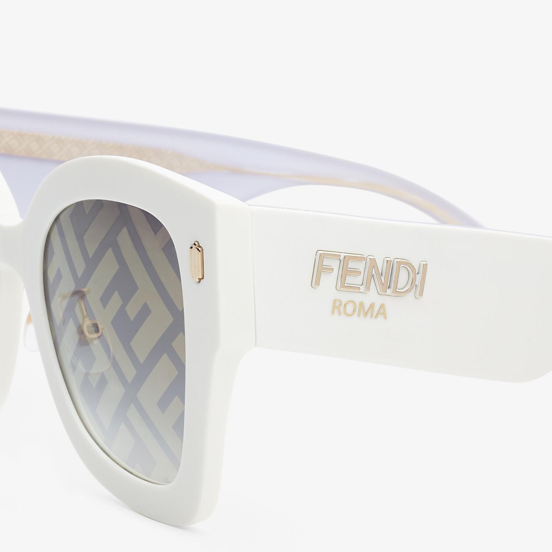 FENDI FENDI ROMA - White acetate sunglasses - view 3 detail