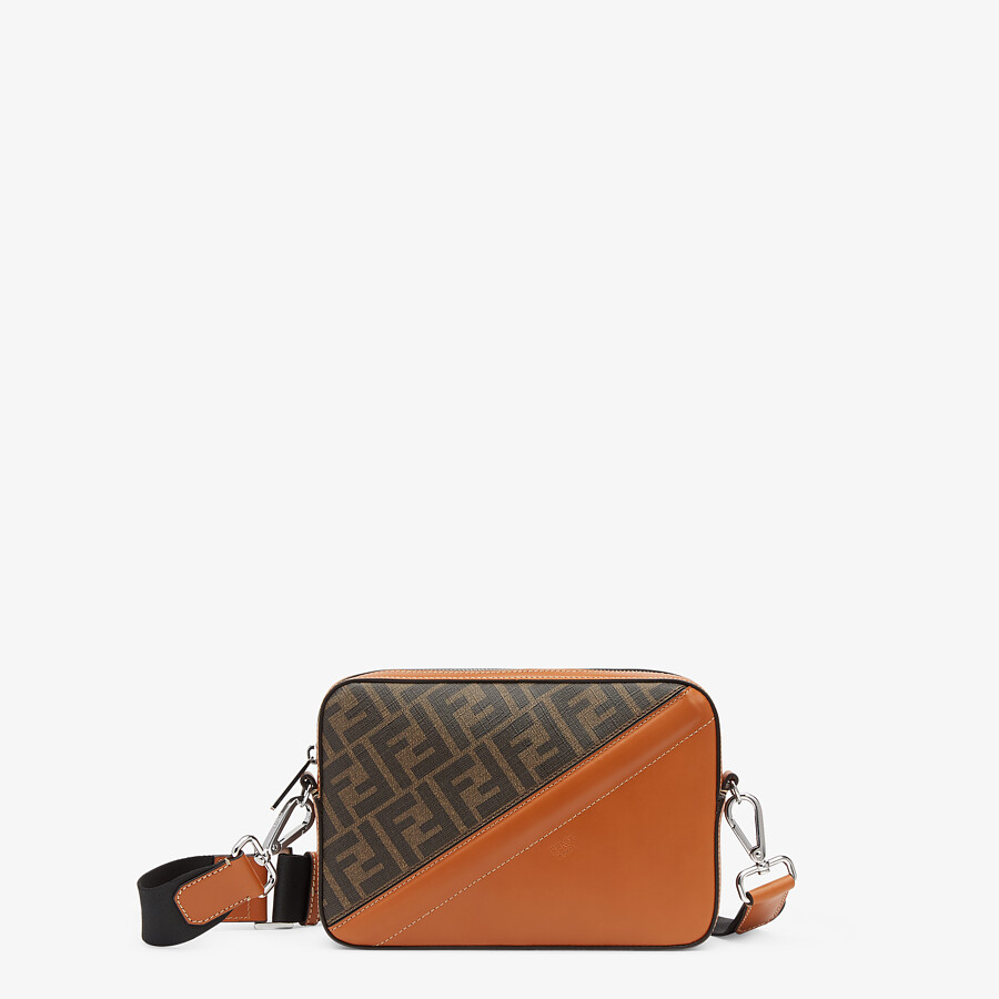 FENDI CAMERA CASE - Brown fabric bag - view 1 detail