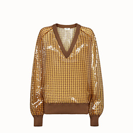FENDI SWEATER - Check sequin sweater - view 1 thumbnail