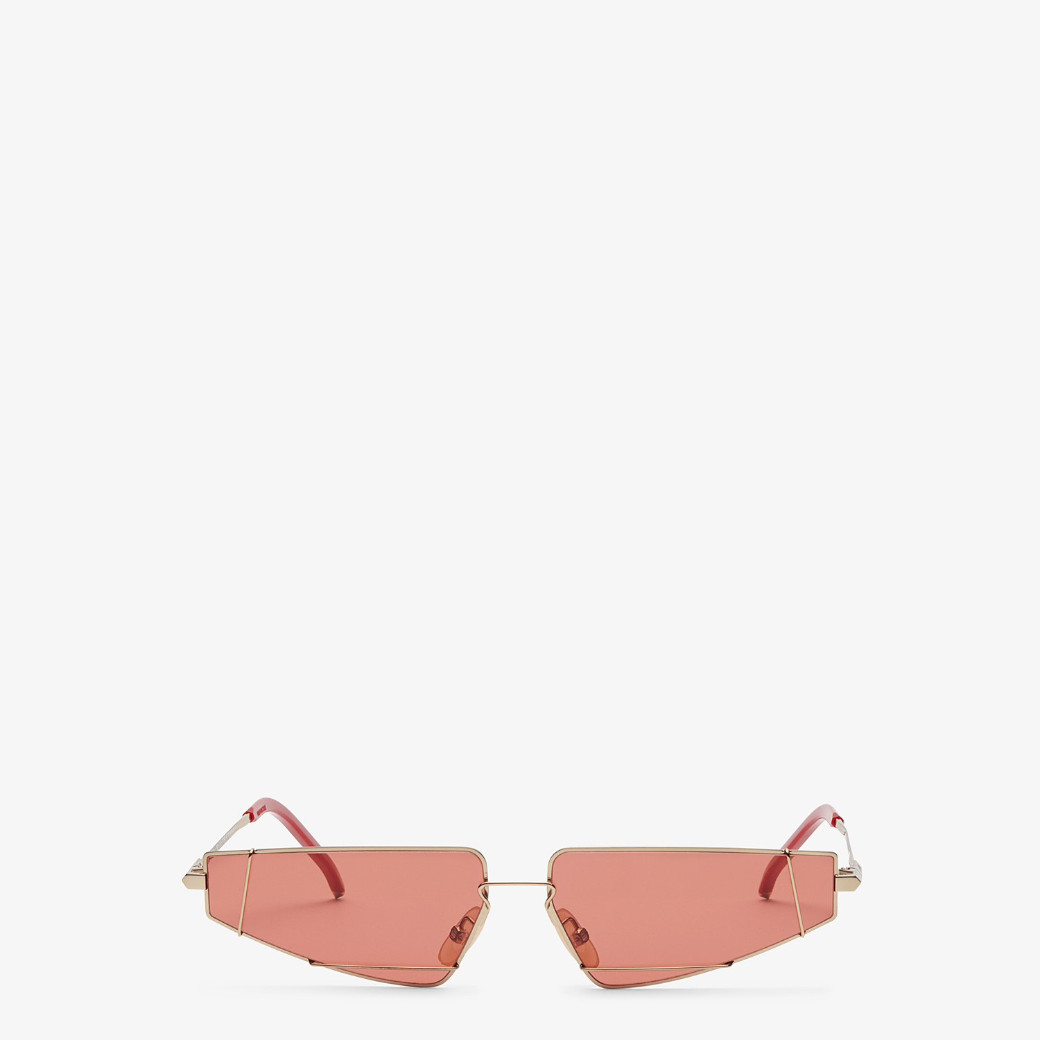 FENDI FENDIFIEND - Gold and red sunglasses - view 1 detail