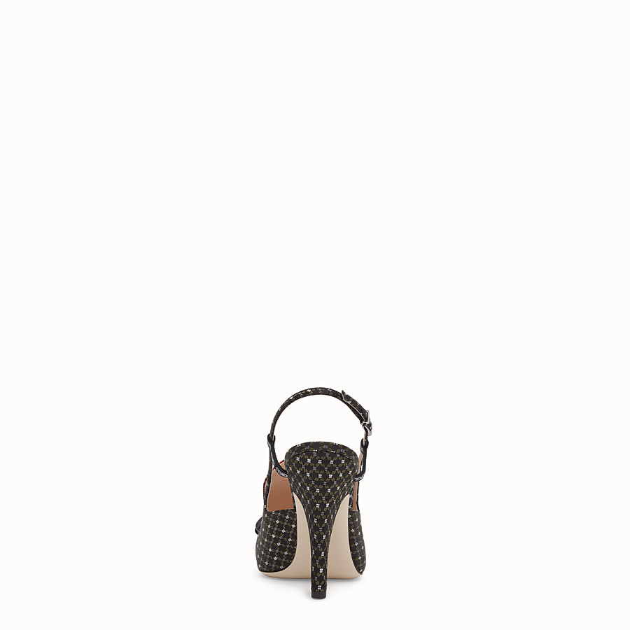 FENDI SLINGBACK - Black nappa slingbacks - view 3 detail