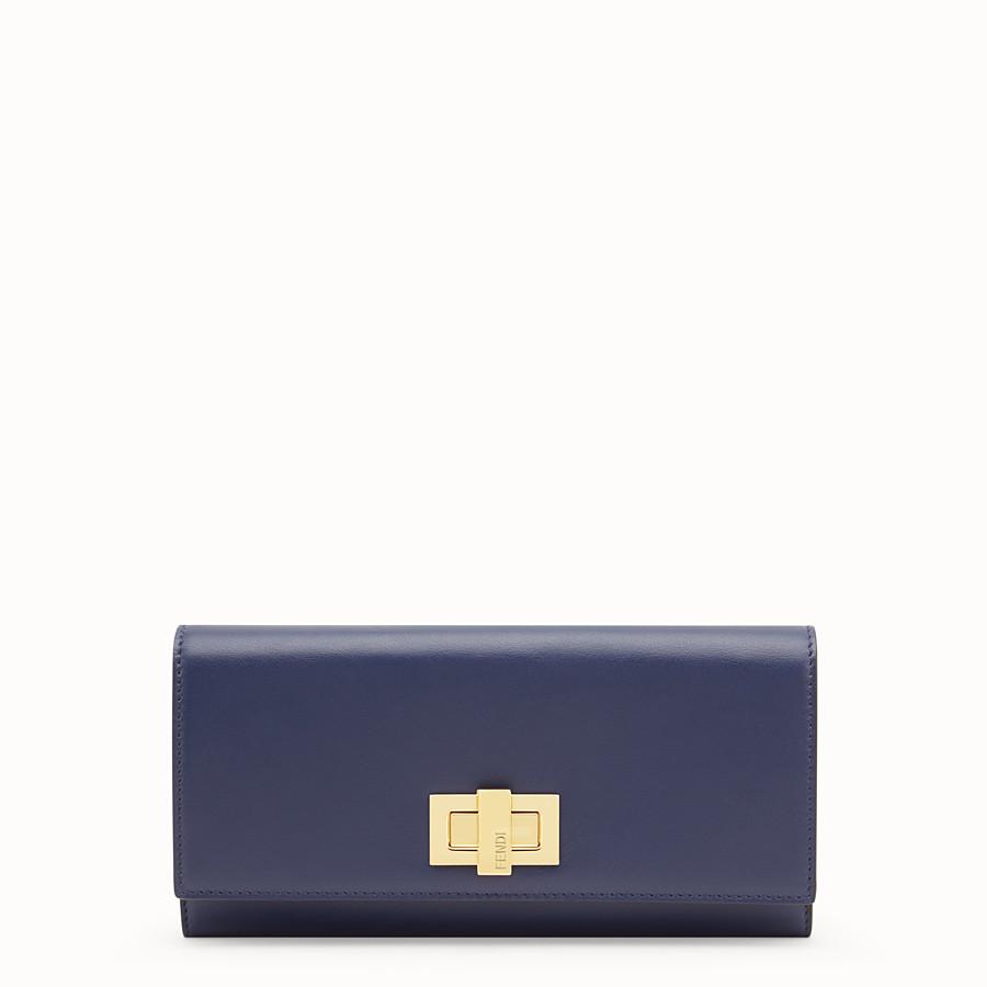 Portefeuille en cuir bleu - PORTEFEUILLE CONTINENTAL   Fendi d9c730147a5