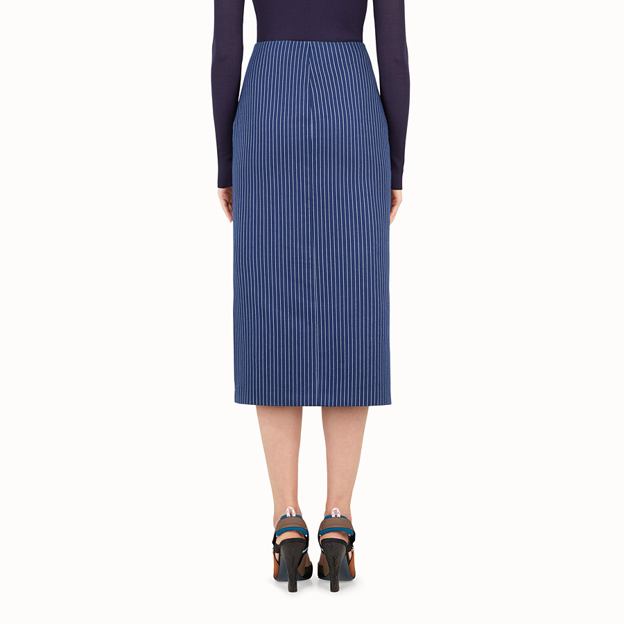 FENDI FALDA - Blue silk and cotton skirt - view 2 detail
