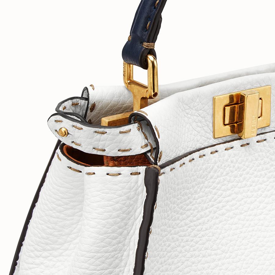 FENDI PEEKABOO ICONIC MINI - White leather bag - view 6 detail