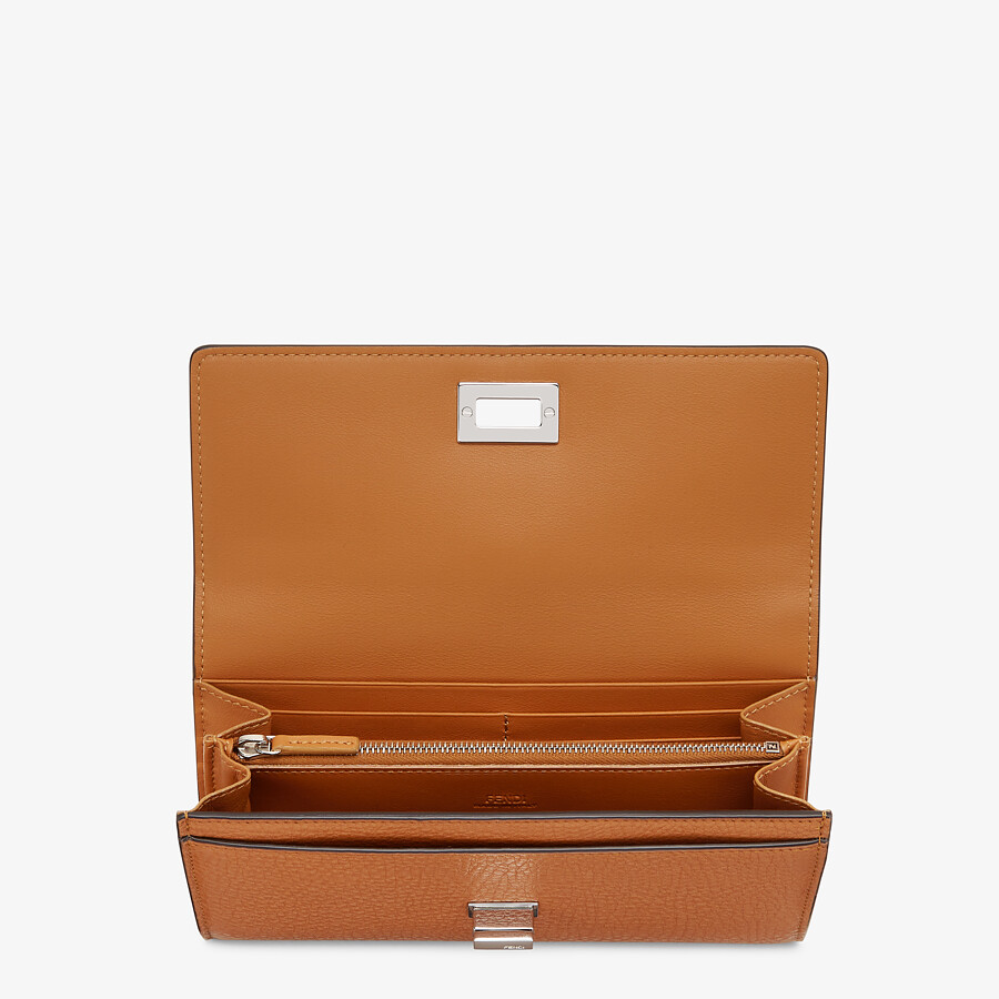 FENDI CONTINENTAL - Brown leather wallet - view 3 detail
