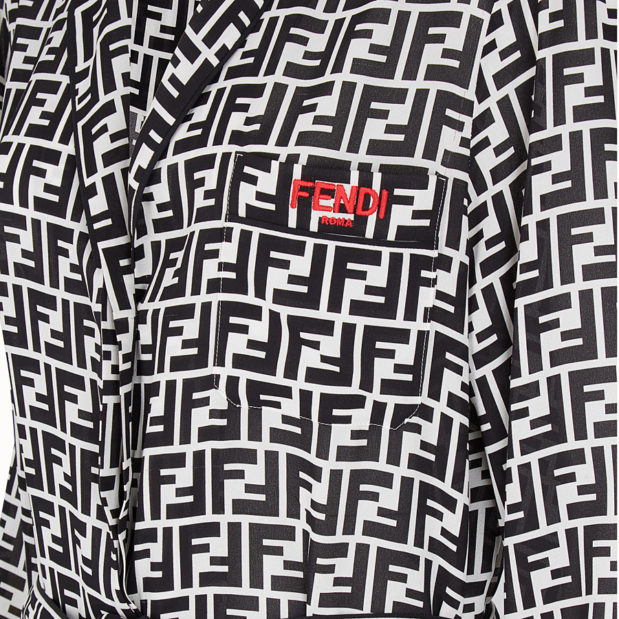 FENDI JUMPSUIT - Multicolour silk jumpsuit - view 3 detail
