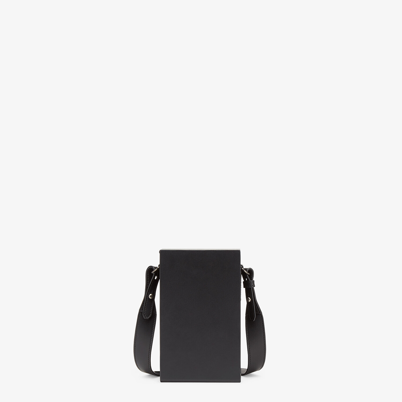 FENDI VERTICAL BOX - Black leather bag - view 3 detail